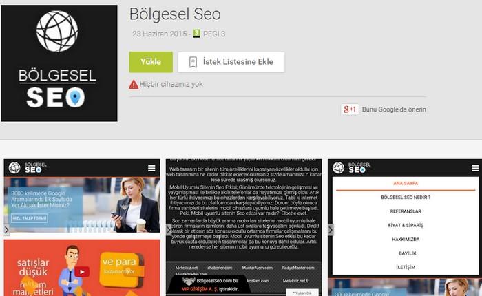 bölgesel seo google play ekran görüntüsü